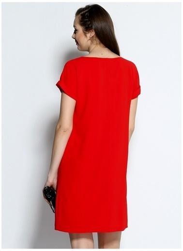 Limon Company Limon Nar Çiçeği Elbise Kırmızı